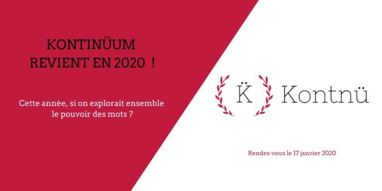 17 janvier 2020 :  Kontinuum, le grand rendez-vous des contenus éthiques à Paris