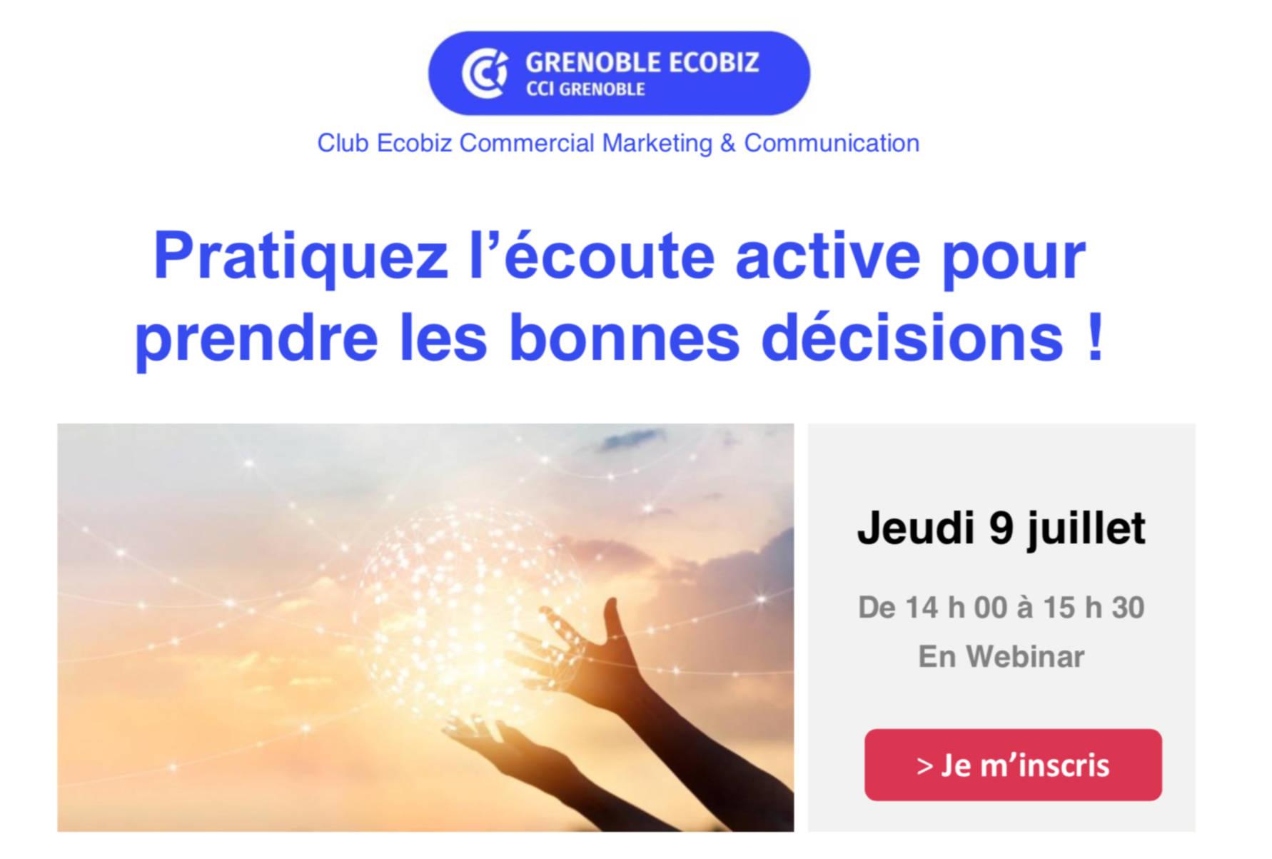 Webinar Comongo et Ecobiz : Pratiquez l'écoute active pour prendre les bonnes décisions